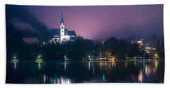 Beach Towel featuring the photograph Bled Slovenia 2 by Mariusz Czajkowski