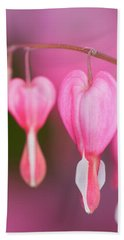 Bleeding Hearts Flowers Beach Sheet