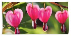 Beach Sheet featuring the photograph Bleeding Hearts by Skip Tribby