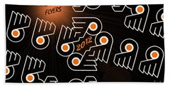Bleeding Orange And Black - Flyers Beach Towel
