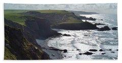 Blegberry Cliffs From Damehole Point Beach Towel