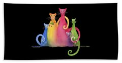 Blended Family Of Five Beach Towel