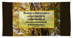 Beach Towel featuring the photograph Blessed Be God by Sonya Nancy Capling-Bacle