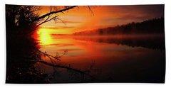 Blind River Sunrise Beach Towel
