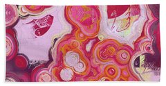 Beach Towel featuring the digital art Blobs - 03v2c7b by Variance Collections