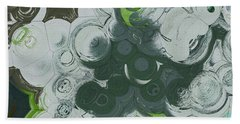 Beach Towel featuring the digital art Blobs - 13c9b by Variance Collections