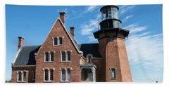 Block Island Southeast Light Historic Lighthouse Beach Towel