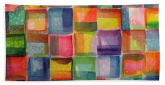 Blocks II Beach Towel by Holly York
