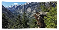 Blodgett Canyon Mt. Beach Towel by Joseph J Stevens