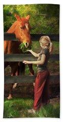 Blond With Horse Beach Sheet