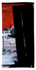 Blood And Moon Beach Towel