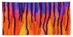 Beach Towel featuring the photograph Blood Dawn  by Ken Frischkorn