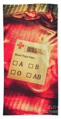 Blood Donation Bag Beach Towel