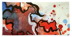 Blood In The Water 2 Of 4 Beach Towel