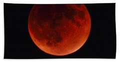 Blood Moon #4 Of Tetrad, Without Location Label Beach Towel