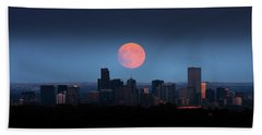 Blood Moon Over Denver Beach Towel