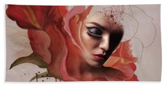 Blood Of The Rose 009 Beach Towel