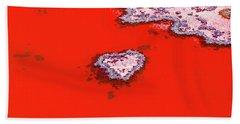 Blood Red Heart Reef Beach Towel