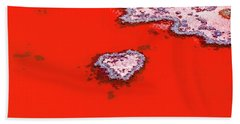 Beach Towel featuring the photograph Blood Red Heart Reef by Az Jackson