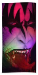 Beach Towel featuring the painting Bloody Demon by Kevin Caudill