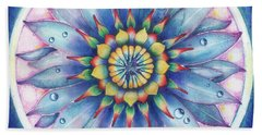 Bloom Of Counsciousness Beach Towel
