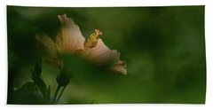 Beach Towel featuring the photograph Bloom Through The Bush by Debby Pueschel