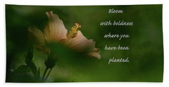 Beach Towel featuring the photograph Bloom With Boldness by Debby Pueschel