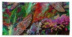 Blooming Color Beach Towel