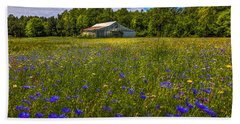 Blooming Country Meadow Beach Sheet by Marvin Spates