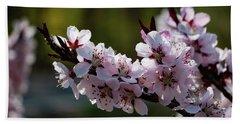 Blooming Peach Tree Beach Sheet