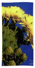 Blooming Prickly Pear Beach Towel
