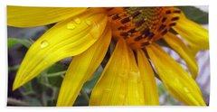 Blooming Sunflower Beach Sheet