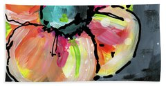 Beach Towel featuring the mixed media Blooming Wildflower- Art By Linda Woods by Linda Woods