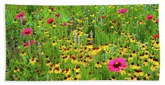 Beach Towel featuring the photograph Blooming Wildflowers by D Davila