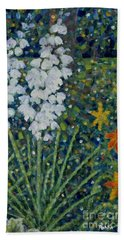 Blooming Yucca Beach Towel by Jim Rehlin