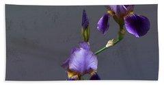 Iris Blooms In May Beach Towel