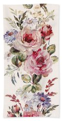 Beach Towel featuring the mixed media Blossom Series No. 1 by Writermore Arts