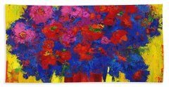 Blossoming Joy Beach Towel