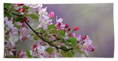 Blossoms And Bokeh Beach Sheet
