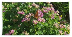 Blossoms And Wings #2 Beach Towel by Rachel Hannah