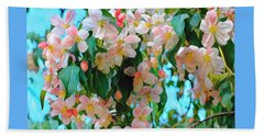 Blossoms Of Spring Beach Sheet by Miriam Danar