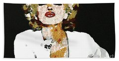 Blow Me A Kiss Marilyn Monroe In The Mix Beach Towel