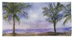 Beach Towel featuring the painting Blowing By The Ocean by Vicki  Housel