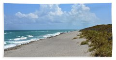 Beach Towel featuring the photograph Blowing Rocks Preserve Beach by Carol Bradley