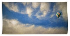 Beach Towel featuring the photograph Blown Into A Soft Sky by Glenn McCarthy Art and Photography