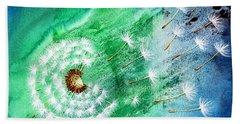 Blown Away Beach Towel by Maria Barry