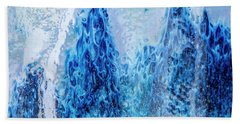 Blue Abstract Two Beach Towel