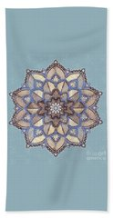 Blue And White Mandala Beach Sheet