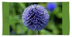 Blue Allium Beach Towel by Terence Davis