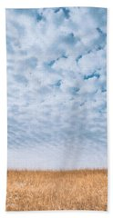 Blue And Amber Beach Towel